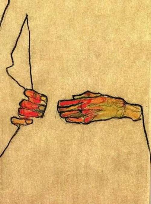 schiele hands